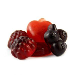 Rote Früchte vegan
