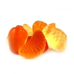 Gelbe Früchte vegan